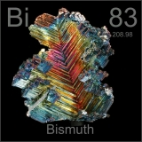 Bismuth was discovered in 1783 by Claude Geoffroy the Younger.  This rare industrial metal is mined as a by-product of lead, silver, copper, molybdenum, tin and gold.  The element is 86% as dense as lead.  Bismuth is the most naturally diamagnetic metal meaning it is the most resistant to being magnetized.  Mercury is the only metal that has a lower thermal conductivity.  It also has a high electrical resistance.  Bismuth has been classified as the heaviest naturally occurring element.